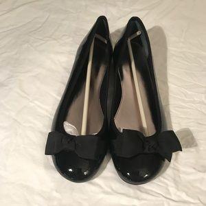 Alfani Black Flats With Bows